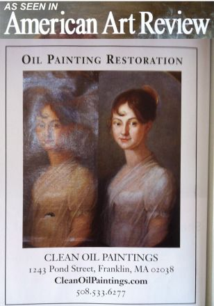 Oil painting restoration as seen in American Art Review