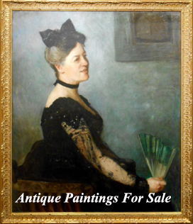 Antique Oil Paintings For sale